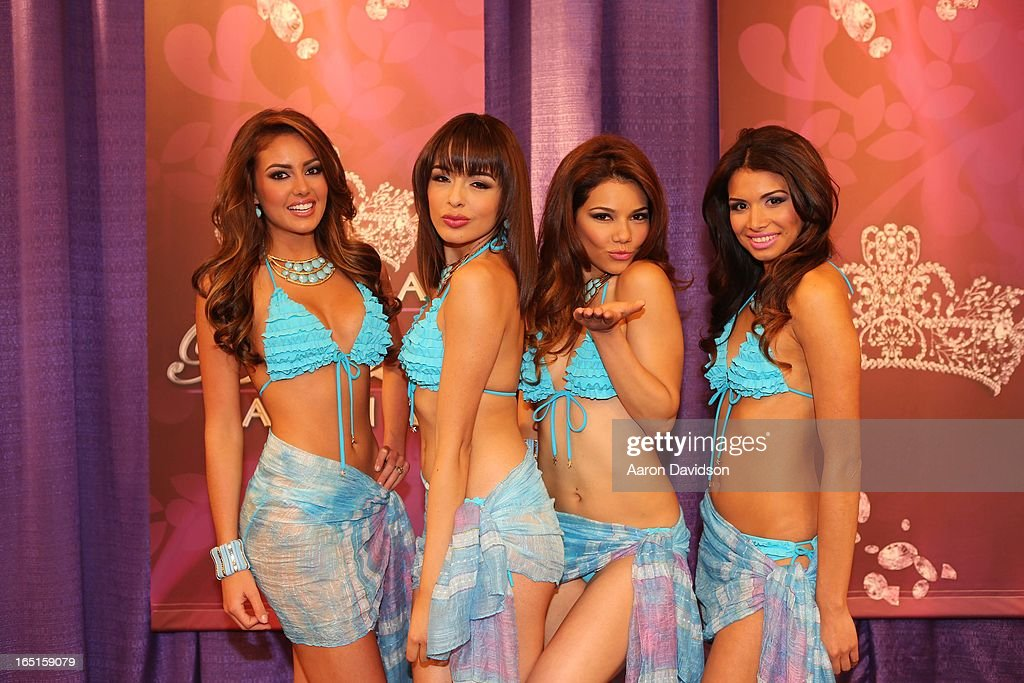 Marina Ru'z, B‡rbara Turbay, Marisela Demontecristo, and Lilia Fifield attend Univisions Nuestra Belleza Latina Finalists Revealed at Univision Headquarters on March 31, 2013 in Miami, Florida.
