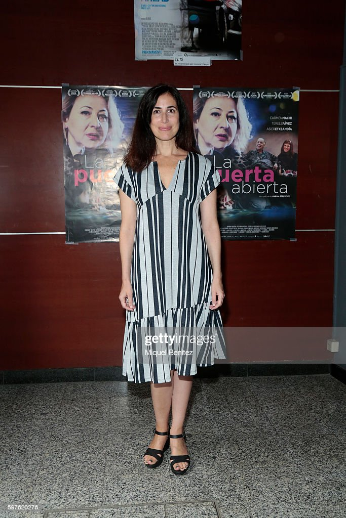 Marina Seresesky attends the presentation of her last movie 'La Puerta de Atras' at the Boliche cinema in Barcelona on August 29 2016 in Barcelona...