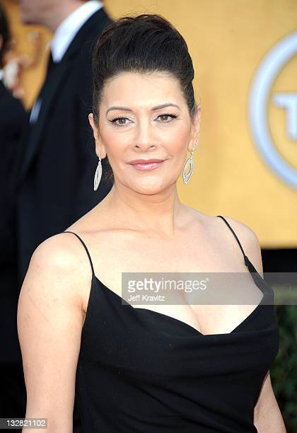 Marina Sirtis arrives at the 17th Annual Screen Actors Guild Awards held at The Shrine Auditorium on January 30 2011 in Los Angeles California