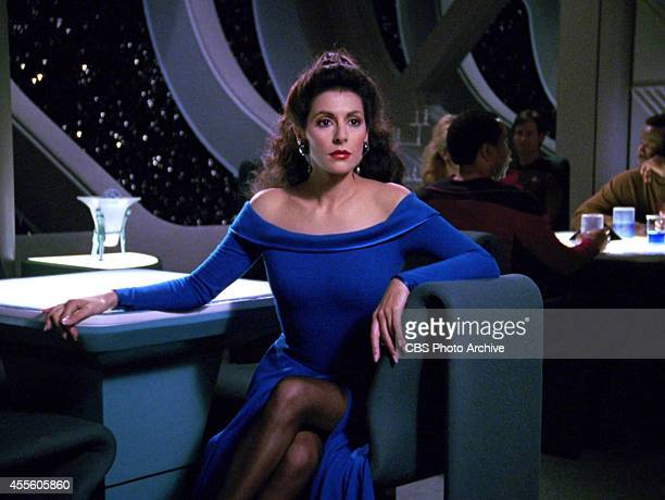 Marina Sirtis as Counselor Deanna Troi in the STAR TREK THE NEXT GENERATION episode 'Hollow Pursuits' Original air date April 28 1990 Season 3...