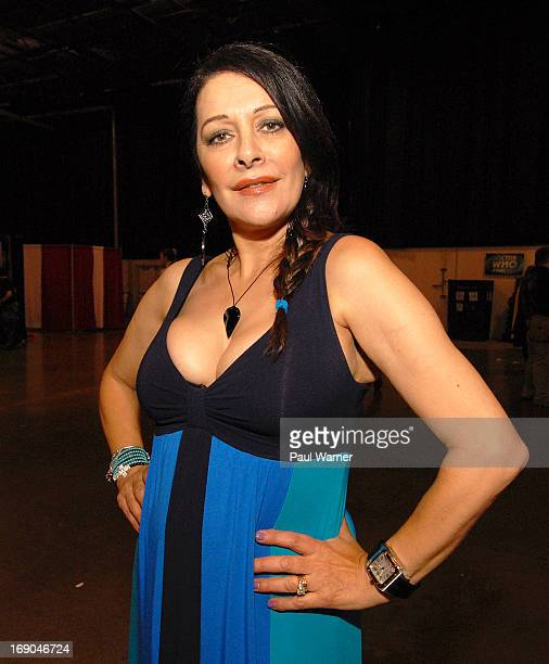 Marina Sirtis attends Motor City Comic Con at Suburban Collection Showplace on May 18 2013 in Novi Michigan