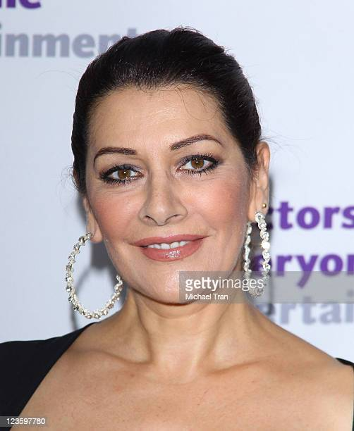 Marina Sirtis attends The Actors' Fund's 15th Annual Tony Awards party held at Skirball Cultural Center on June 12 2011 in Los Angeles California