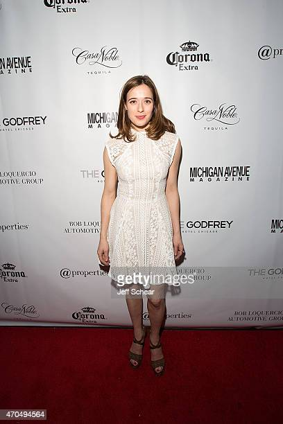 Marina Squerciati attends Michigan Avenue Magazine's Late Spring Issue Release Celebration With Sophia Bush At The Godfrey Hotel Chicago on April 20...