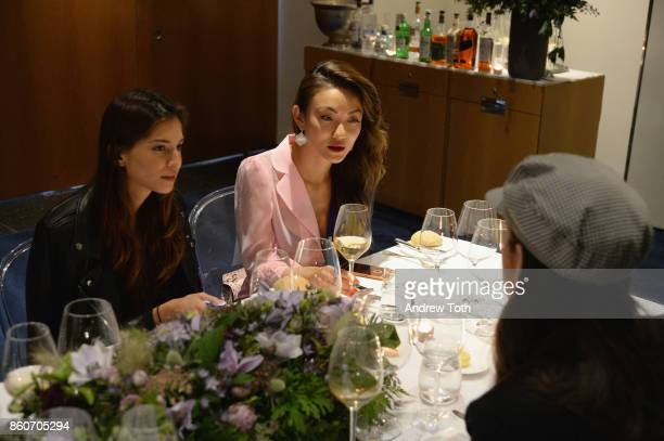 Marina Testino and Jessica Wang attend as Harper's BAZAAR and THE OUTNETCOM Celebrate the opening of MoMA's Fashion Exhibit 'Is Fashion Modern' at...