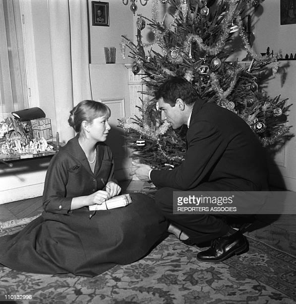 Marina Vlady and Robert Hossein in 1950