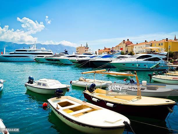 Marina with yachts in Budva, Budvanska rivijera, Montenegro