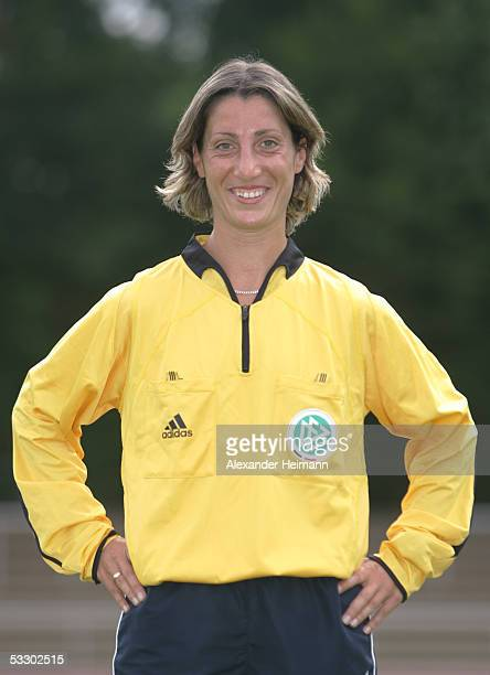 Marina Wozniak poses during the German Football Federation referee seminar on July 29 2005 in Neu Isenburg near Frankfurt Germany