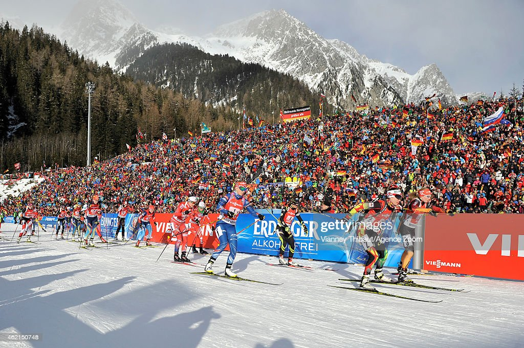 Marine Bolliet of France competes during the IBU Biathlon World Cup Men's and Women's Relay on January 25 2015 in AntholzAnterselva Italy