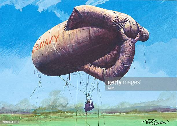 Barrage Balloon Stock Photos And Pictures Getty Images