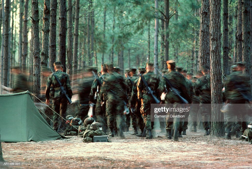 US Marine Corps basic training, South Carolina, USA