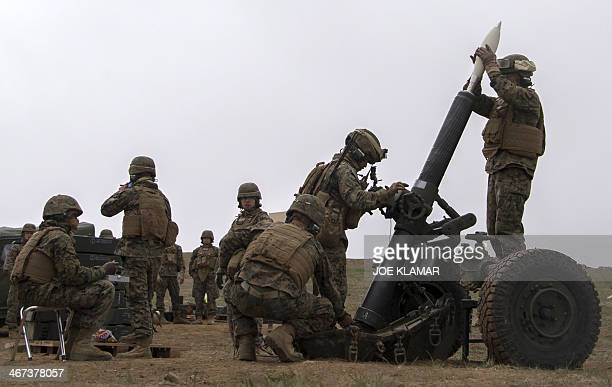 US Marine Corps of the Expeditionary Fire Support System fire 120mm mortar systems with Japan Ground SelfDefense Force troops during the US JAPAN...
