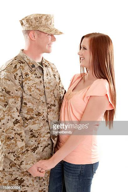 U S Marine Corps Soldier & Wife