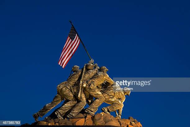 Marine Corps War Memorial also Iwo Jima Memorial Arlington Ridge Park
