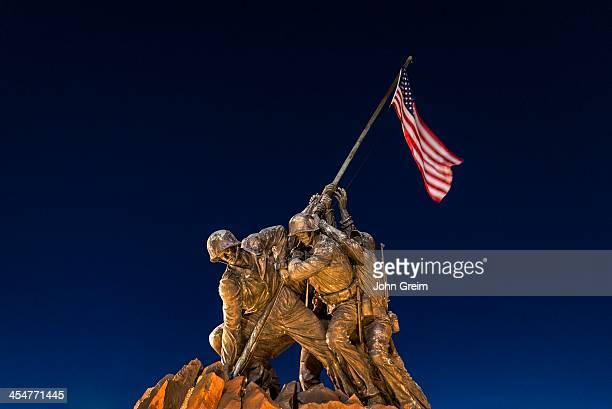 Marine Corps War Memorial also known as the Iwo Jima Memorial