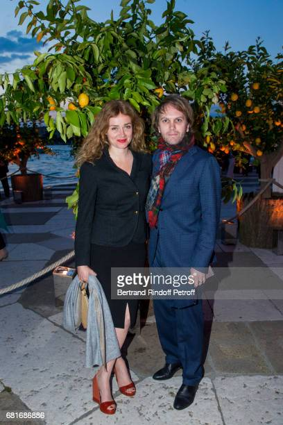 Marine Delterm and Florian Zeller attend the Cini party during the 57th International Art Biennale on May 10 2017 in Venice Italy