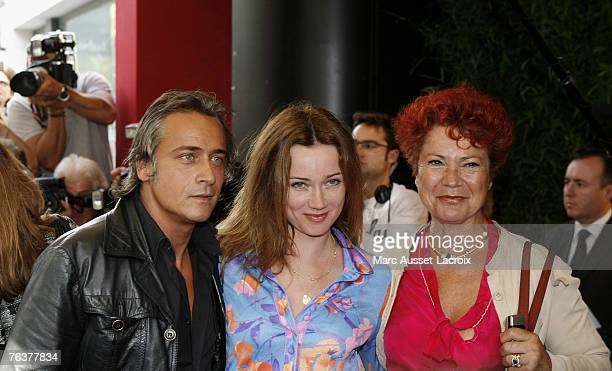 Marine Delterme and JeanMichel Tinivelli arrive at the TF1 annual press conference held at the Olympia on August 29 2007 in Paris France Photo by