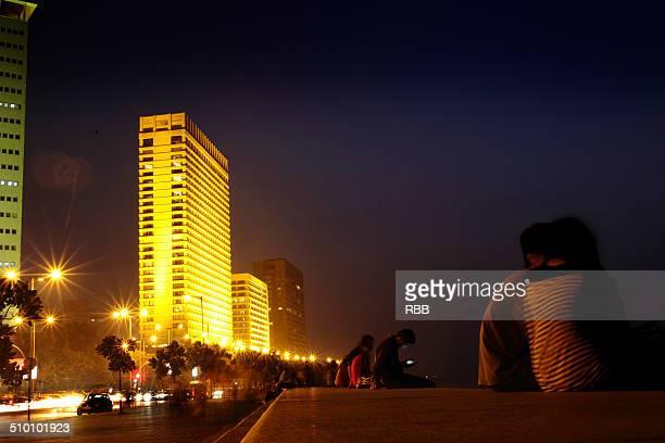 Marine Drive Mumbai at night