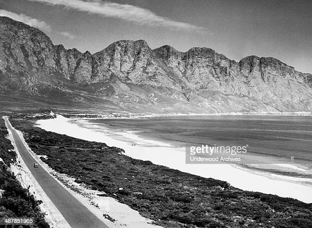 Marine Drive on the Western Cape between Gordons Bay and Hermanus South Africa mid 1940s