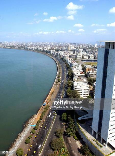Marine Drive popularly known as queen's Necklace in the western Indian city of Mumbai Maharashtra India