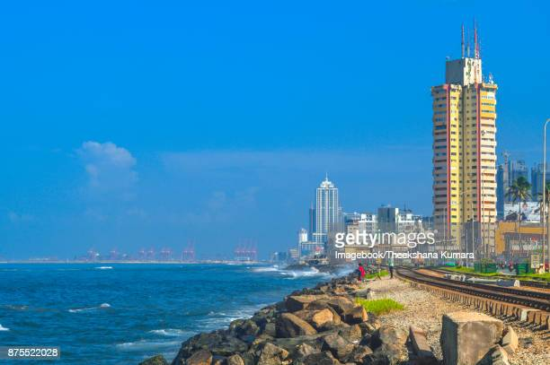 Marine Drive view towards colombo city, Sri Lanka