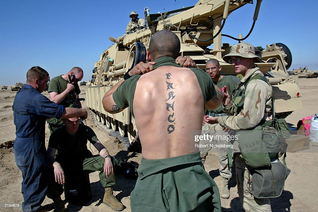 Gallery getty images for General mattis tattoo