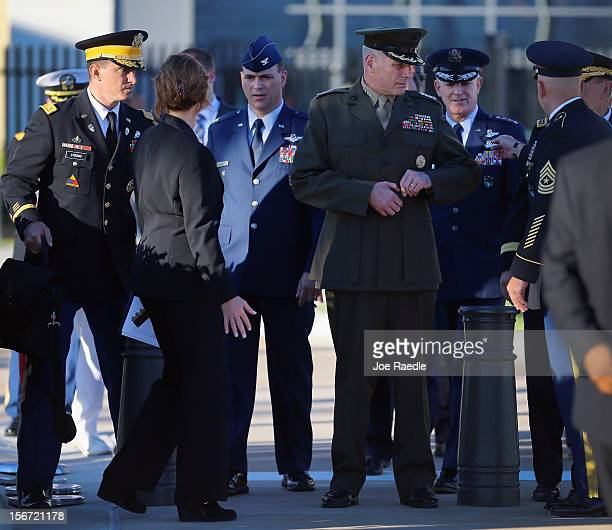 S Marine General John F Kelly waits for the start of the change of command ceremony at the United States Southern Command on November 19 2012 in...
