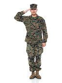 US Marine in uniform