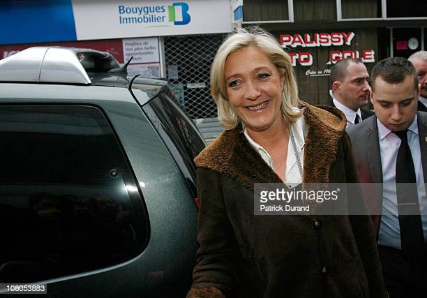 Marine Le Pen arrives at the Palais des Congres as French nationalist party Front National elects its new leader on January 15 2011 in Tours France...