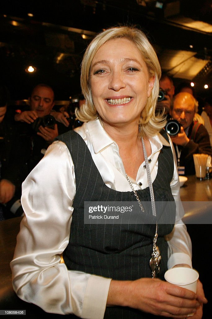 Marine Le Pen is welcomed by supporters as French nationalist party Front National elects its new leader on January 15 2011 in Tours France Marine Le...