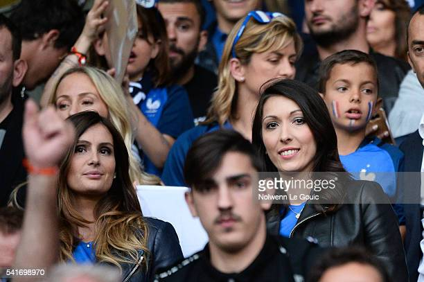 Marine Lloris and Jennifer Giroud during the UEFA EURO 2016 Group A match between Switzerland and France at Stade PierreMauroy on June 19 2016 in...