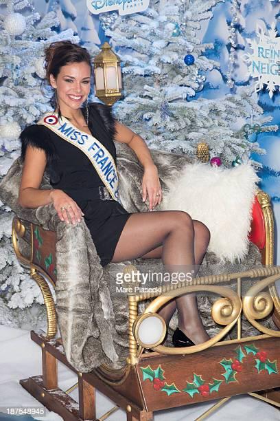 Marine Lorphelin attends the Christmas season launch at Disneyland Paris on November 9 2013 in Paris France