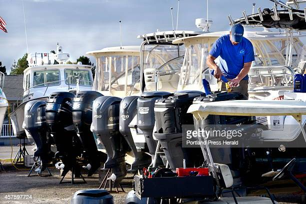 Marine mechanic Frank Didonato is among the many workers at Port Harbor Marina in South Portland to haul and winterize over 300 boats Didonato has...