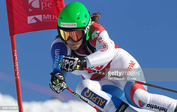 Marine Oberson Switzerland in action during the Women's Giant Slalom competition at Coronet Peak New Zealand during the Winter Games Queenstown New...