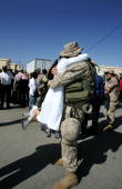 S Marine receives an emotional welcome as he returns home from Iraq April 8 2005 at Camp Pendleton California The 1st Marine Expeditionary Force...