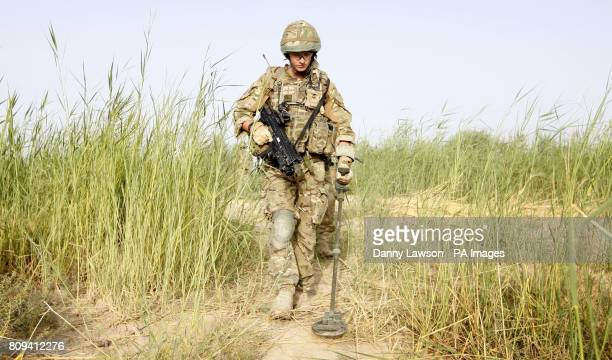 Marine Sam White of XRay Company 45 Commando Royal Marines while on patrol from Patrol Base Kalang in Afghanistan