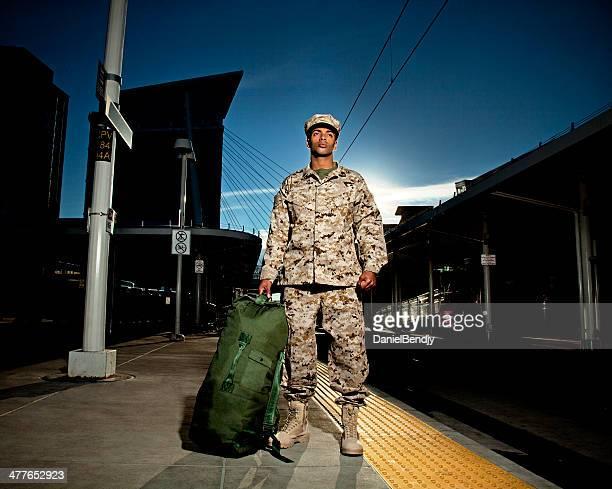 US Marine Soldaten zu Hause