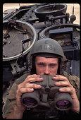 Marine Tank Driver with Binoculars