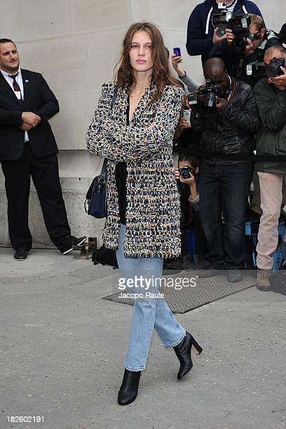 Marine Vacht arrives at Chanel Fashion Show during Paris Fashion Week Womenswear SS14 Day 8 on October 1 2013 in Paris France