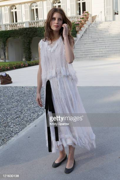 Marine Vacht attends the Chanel 'Collection Croisiere Show 2011/12' at Hotel du Cap on May 9 2011 in Cap d'Antibes France