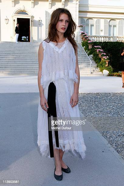 Marine Vacht attends the Chanel Collection Croisiere Show at Hotel du Cap on May 9 2011 in Cap d'Antibes France