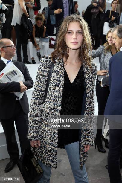 Marine Vacht attends the Chanel show as part of the Paris Fashion Week Womenswear Spring/Summer 2014 on October 1 2013 in Paris France