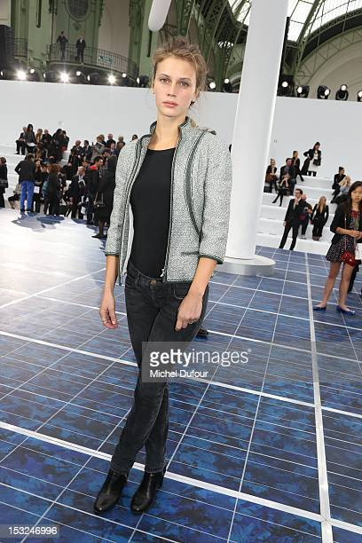 Marine Vacht attends the Chanel Spring / Summer 2013 show as part of Paris Fashion Week at Grand Palais on October 2 2012 in Paris France