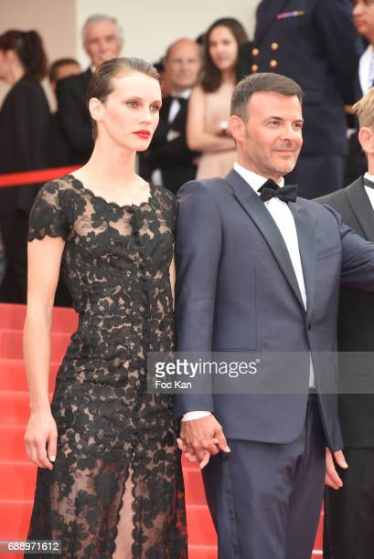 Marine Vacth and director Francois Ozon attend 'Amant Double ' Red Carpet Arrivals during the 70th annual Cannes Film Festival at Palais des...