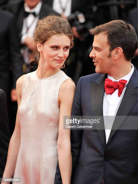 Marine Vacth and Francois Ozon attend the 'Jeune Jolie' premiere during The 66th Annual Cannes Film Festival at the Palais des Festivals on May 16...