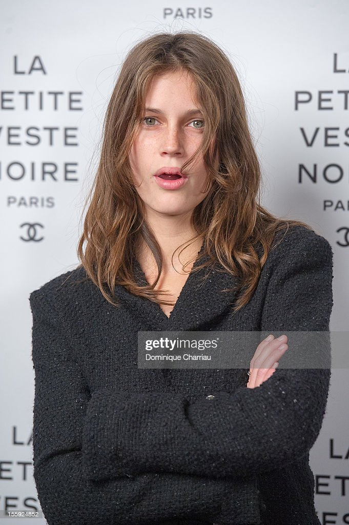 <a gi-track='captionPersonalityLinkClicked' href=/galleries/search?phrase=Marine+Vacth&family=editorial&specificpeople=7496911 ng-click='$event.stopPropagation()'>Marine Vacth</a> attends 'La Petite Veste Noire' Book Launch Hosted By Karl Lagerfeld & Carine Roitfeld at Grand Palais on November 8, 2012 in Paris, France.