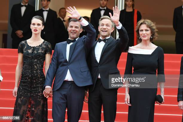 Marine Vacth director Francois Ozon Jeremie Renier and Jacqueline Bisset attend the 'Amant Double ' screening during the 70th annual Cannes Film...