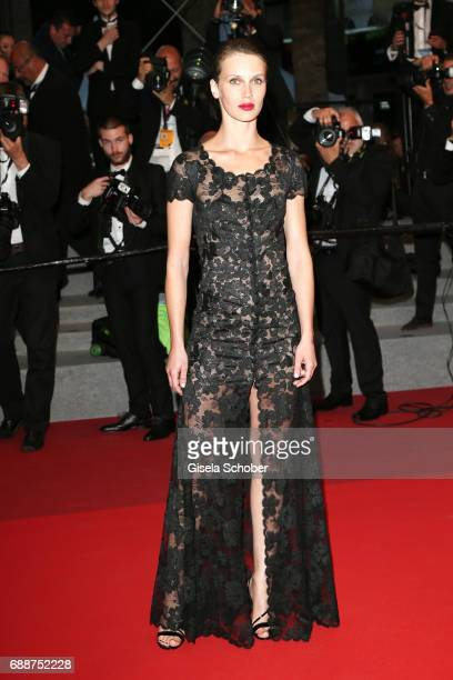Marine Vacth leaves after the 'Amant Double ' Red Carpet Arrivals during the 70th annual Cannes Film Festival at Palais des Festivals on May 26 2017...