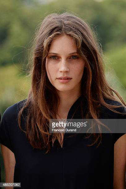 Marine Vacth poses during the 'Belles Familles' photocall as part of the 8th Angouleme FrenchSpeaking Film Festival on August 25 2015 in Angouleme...