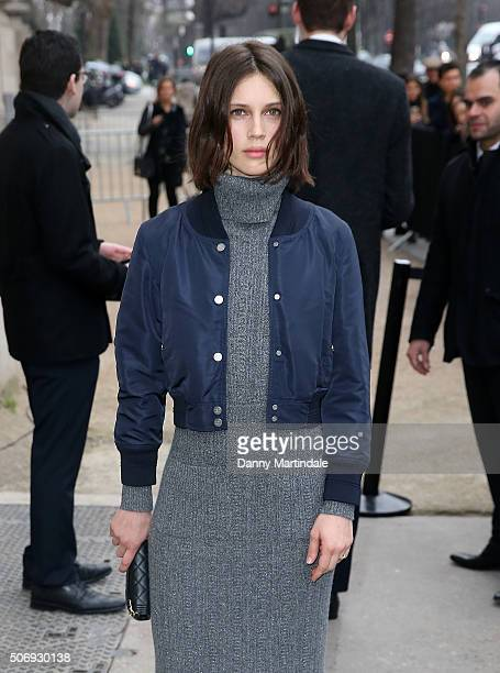 Marine Vatch arrives at the Chanel Haute Couture Spring Summer 2016 show as part of Paris Fashion Week on January 26 2016 in Paris France