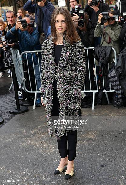 Marine Vatch attends the Chanel fashion show at the Grand Palais on October 6 2015 in Paris France